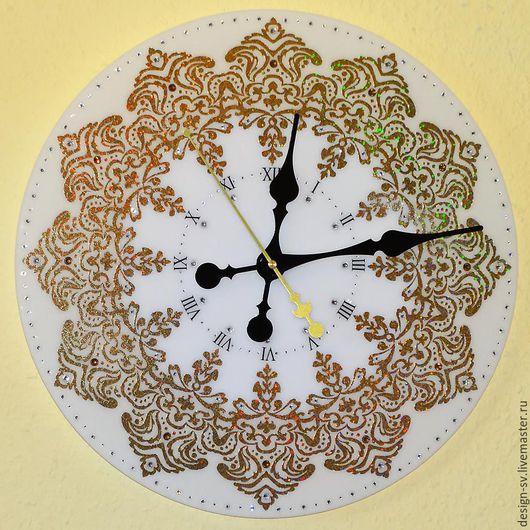 """Часы для дома ручной работы. Ярмарка Мастеров - ручная работа. Купить Настенные часы """"Галактика"""" диаметр 40 см. Handmade."""