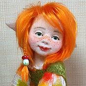 Куклы и игрушки ручной работы. Ярмарка Мастеров - ручная работа Авторская войлочная кукла Эльф на мухоморе. Handmade.