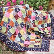 Для дома и интерьера ручной работы. Ярмарка Мастеров - ручная работа Лоскутное одеяло в русском стиле №7. Handmade.