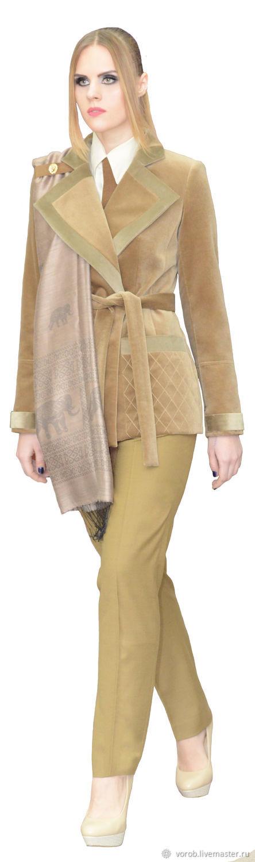 Бархатный пиджак утепленный. Пальто укороченное демисезонное, Пальто, Москва,  Фото №1