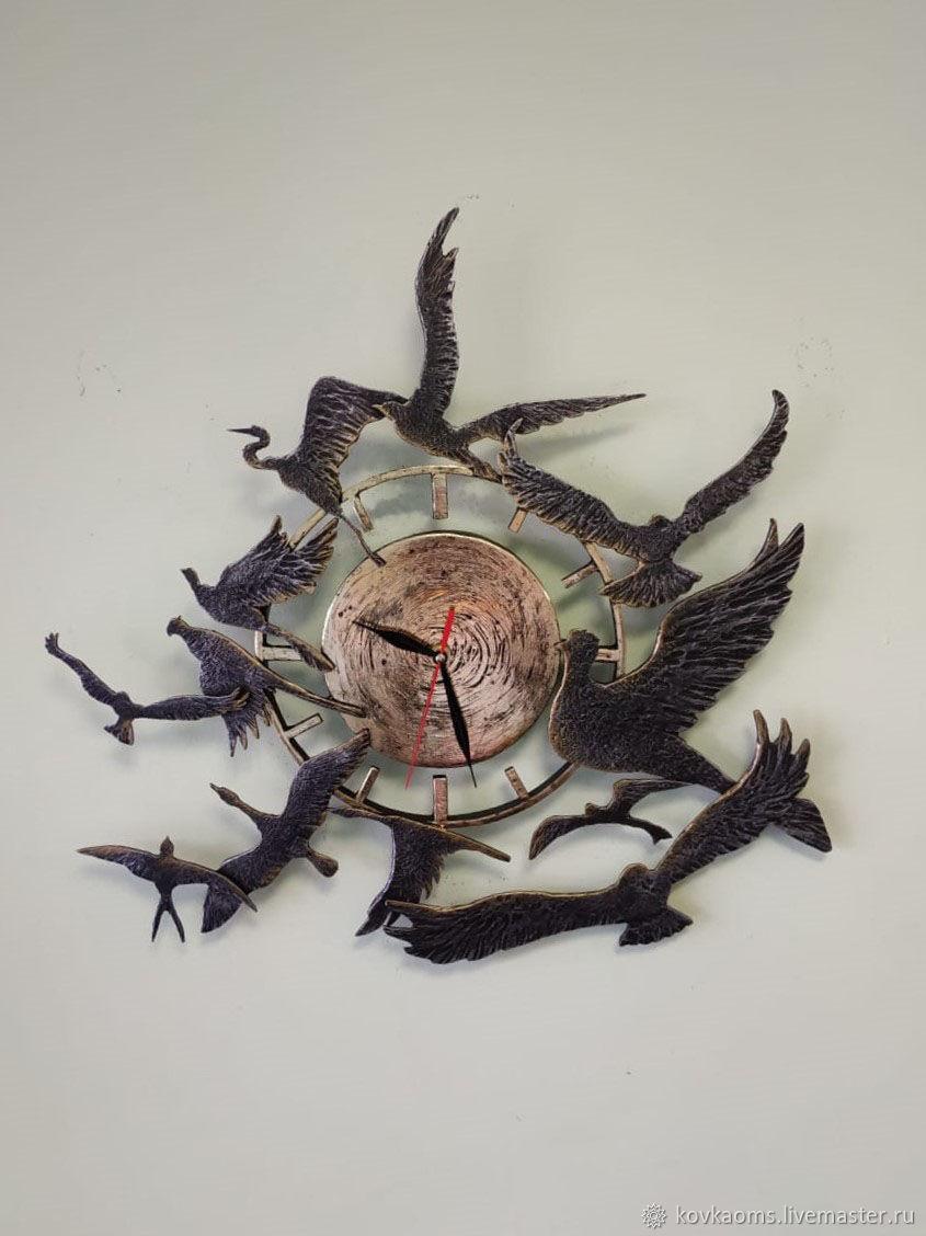 Кованые часы с птицами, Часы, Москва, Фото №1