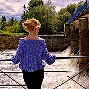 Одежда ручной работы. Ярмарка Мастеров - ручная работа Свитер Микс в джинсовом цвете. Handmade.