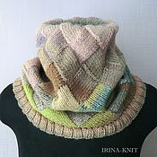 Аксессуары handmade. Livemaster - original item Pistachio Snood scarf Snood interlock. Handmade.