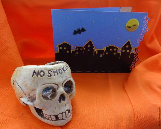 """Открытки к другим праздникам ручной работы. Ярмарка Мастеров - ручная работа. Купить Открытка ручной работы """"Black City""""  на Хэллоуин. Handmade."""