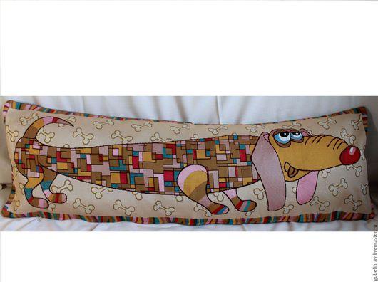 Детская ручной работы. Ярмарка Мастеров - ручная работа. Купить ДЛИННЫЙ: чехол гобеленовый на подушку-валик, 32-95 см. Handmade.