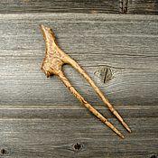 Украшения handmade. Livemaster - original item Hairpin made of Karelian birch. Handmade.