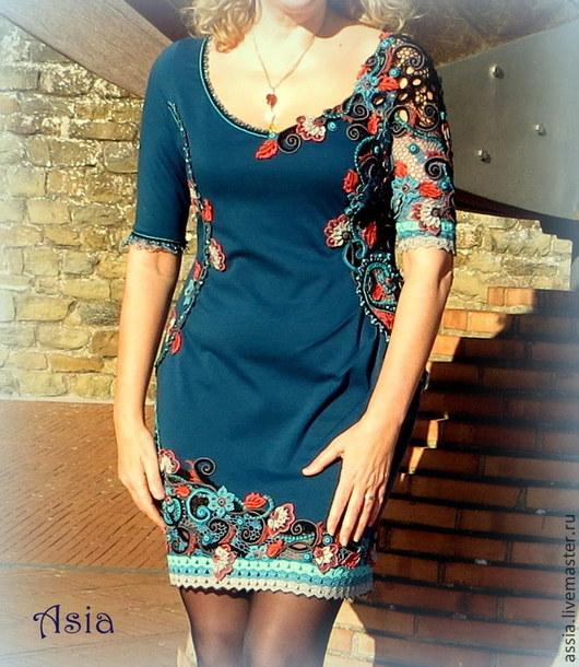 """Платья ручной работы. Ярмарка Мастеров - ручная работа. Купить Платье """"Paisley Blumarin"""". Handmade. Разноцветный, смешанная техника"""