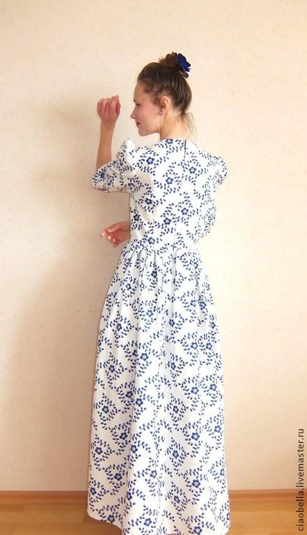 """Платья ручной работы. Ярмарка Мастеров - ручная работа. Купить Платье в пол """"Барышня"""". Handmade. Разноцветный, платье в стиле ретро"""