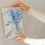 handmade. Livemaster - original item Lavender morning, painting bouquet of lavender. Handmade.