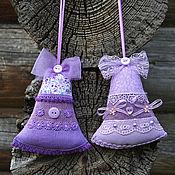 Подарки к праздникам ручной работы. Ярмарка Мастеров - ручная работа Текстильные колокольчики на елку, аромасаше с лавандой. Handmade.