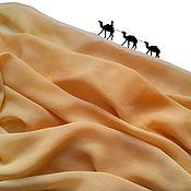 Аксессуары ручной работы. Ярмарка Мастеров - ручная работа Шарф шелковый Золотая пустыня шифон. Handmade.