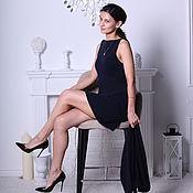 Одежда handmade. Livemaster - original item A dress of blue cashmere