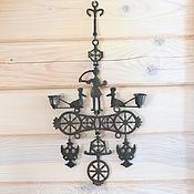 Винтажные предметы интерьера ручной работы. Ярмарка Мастеров - ручная работа Настенный подсвечник в форме византийского креста. Handmade.