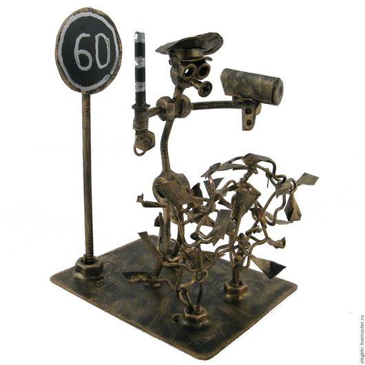 Миниатюрные модели ручной работы. Ярмарка Мастеров - ручная работа. Купить ДПС-ник Вася. Handmade. Скульптурная миниатюра