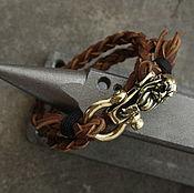 Украшения handmade. Livemaster - original item Leather bracelet Viking. Handmade.