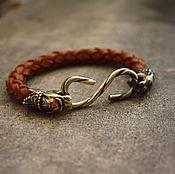 Украшения handmade. Livemaster - original item Bracelet with Panther and wrought-iron castle. Handmade.