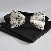 Аксессуары handmade. Livemaster - original item Tie with music notes Musician black shawl into a jacket pocket. Handmade.