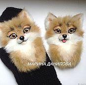 Аксессуары handmade. Livemaster - original item Suroweicki.Stripes on the mittens.Chanterelles. Handmade.