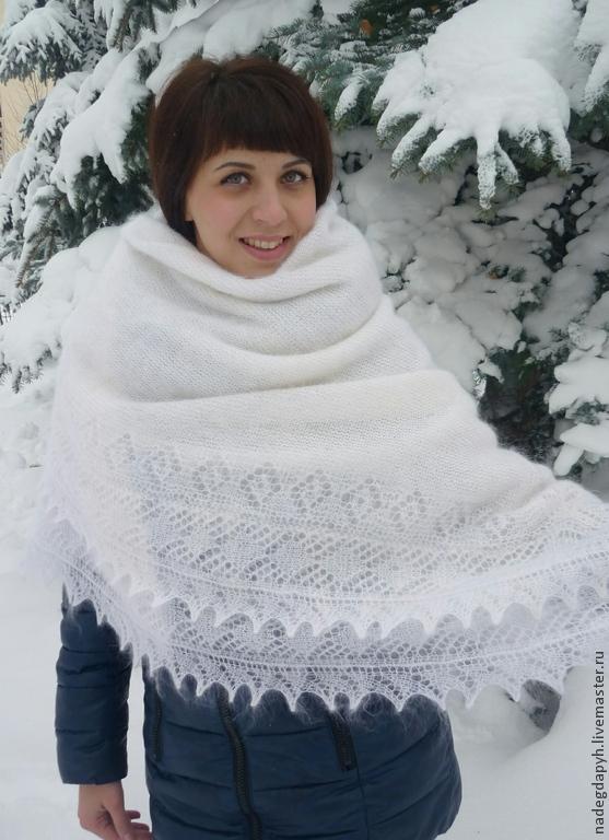 Shawls: 2 downy shawls, holiday gifts, personal gifts, Shawls1, Orenburg,  Фото №1