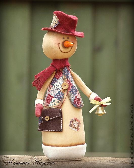 Ароматизированные куклы ручной работы. Ярмарка Мастеров - ручная работа. Купить Кофейный снеговичок. Новогодняя Ароматизированная Игрушка. Handmade. Коричневый