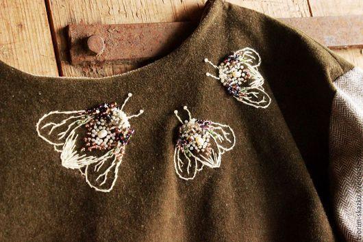 """Платья ручной работы. Ярмарка Мастеров - ручная работа. Купить Платье """"Волшебный свет"""". Handmade. Хаки, бархатное платье, искрящийся"""