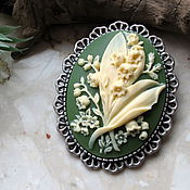Украшения handmade. Livemaster - original item Lily of the valley brooch. Handmade.