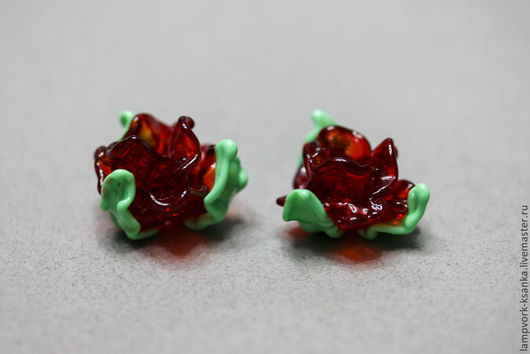 """Для украшений ручной работы. Ярмарка Мастеров - ручная работа. Купить """"Рубиновый бутон"""". Handmade. Бордовый, бусины ручной работы"""