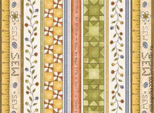 Ткань для пэчворк (50x55см) 25460MUL из коллекции `Time to stitch`