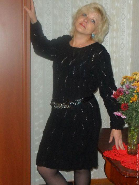 Платья ручной работы. Ярмарка Мастеров - ручная работа. Купить платье вязаное Очарование. Handmade. Платье, платье черное