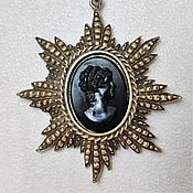 Винтаж handmade. Livemaster - original item Star Necklace with cameo Coro USA. Handmade.