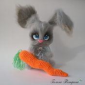 Мягкие игрушки ручной работы. Ярмарка Мастеров - ручная работа Вязаная игрушка заяц Большой Ух.. Handmade.