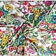 Шитье ручной работы. Ткань натуральный шелк Голландский сад. Ткани, аппликации. Инесса (MMonro). Ярмарка Мастеров. Натуральная ткань