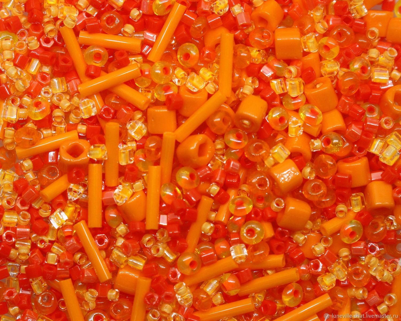 Japanese beads' TOHO ' mix №09 orange 10 g, Beads, St. Petersburg,  Фото №1
