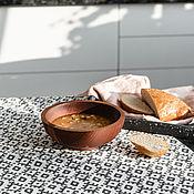 handmade. Livemaster - original item Wooden deep plate made of Siberian cedar 185 mm. T126. Handmade.