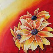 Аксессуары ручной работы. Ярмарка Мастеров - ручная работа платок Солнечные цветы. Handmade.