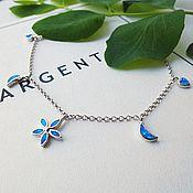 Украшения handmade. Livemaster - original item Bracelet with blue opal Azzurro .Silver.. Handmade.