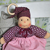 Куклы и игрушки ручной работы. Ярмарка Мастеров - ручная работа Черёмушка - кукла вальдорфская ручной работы для самых маленьких. Handmade.