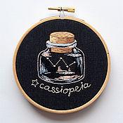 Картины и панно ручной работы. Ярмарка Мастеров - ручная работа Созвездие Кассиопея (Cassiopeia) в миниатюрной бутылочке. Handmade.