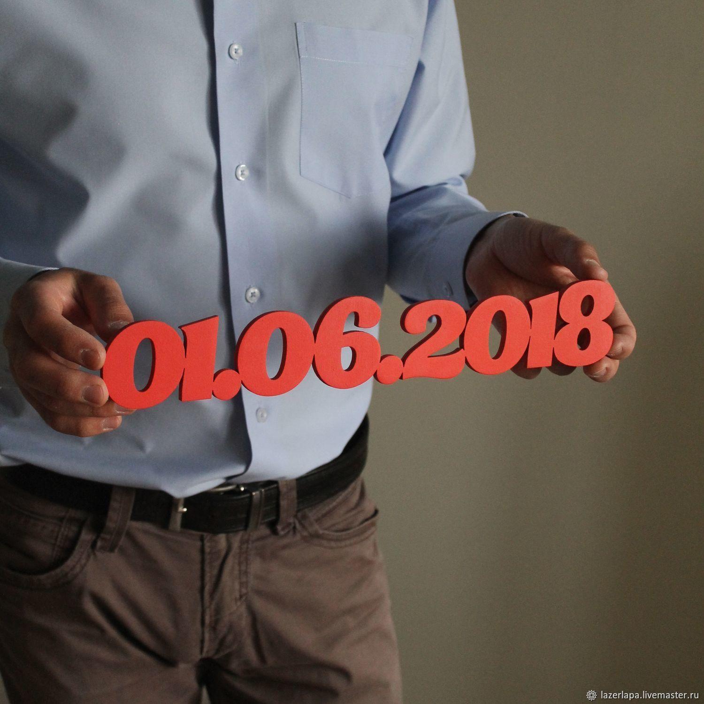 Табличка для свадьбы фотосессии дата фамилия слово из дерева фанеры, Наборы для фотосессий, Тверь,  Фото №1