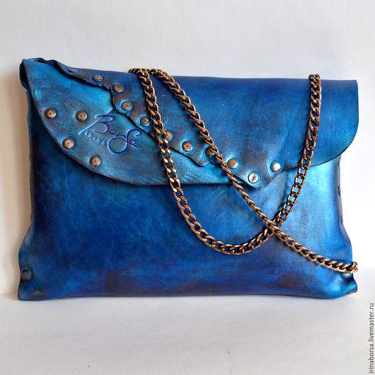 Женские сумки ручной работы. Ярмарка Мастеров - ручная работа. Купить Сумка-клатч BLUE. Handmade. Тёмно-синий, подарок