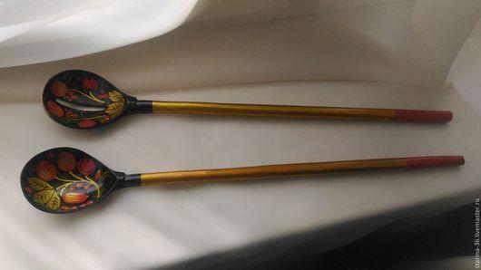 Винтажная посуда. Ярмарка Мастеров - ручная работа. Купить две ложки. Хохлома. Handmade. Комбинированный