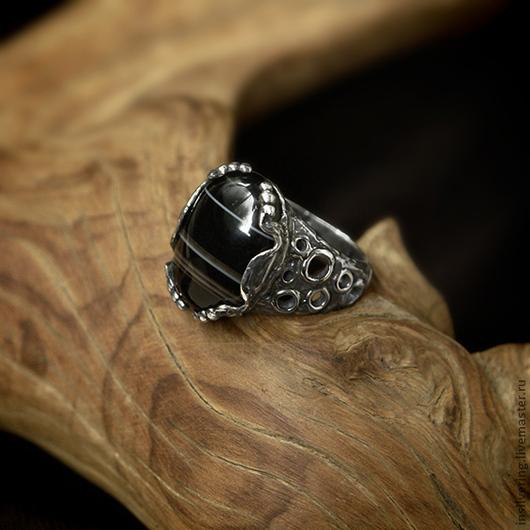 """Кольца ручной работы. Ярмарка Мастеров - ручная работа. Купить Кольцо """"Кольца Сатурна"""". Handmade. Черный, серебро 925 пробы"""