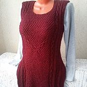 Одежда handmade. Livemaster - original item Knitted sleeveless vest-