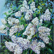 Картины и панно handmade. Livemaster - original item Oil painting. White lilac.. Handmade.