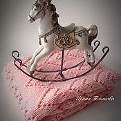 """Для дома и интерьера ручной работы. Ярмарка Мастеров - ручная работа Розовый, детский плед """"Сердечки"""". Handmade."""