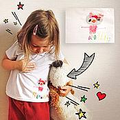 Одежда ручной работы. Ярмарка Мастеров - ручная работа Одежда с рисунком Ваших детей. Handmade.