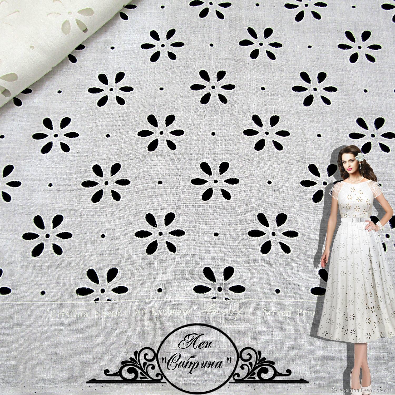 """Лен Greeff """"Сабрина"""" итальянские ткани, Fabric, Sochi,  Фото №1"""