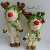 Куклы и игрушки ручной работы. Ярмарка Мастеров - ручная работа Праздничный лось. Handmade.
