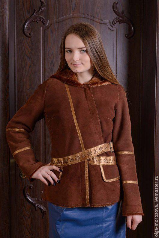 Верхняя одежда ручной работы. Ярмарка Мастеров - ручная работа. Купить Короткая куртка из мехового велюра. Handmade. Коричневый, меринос