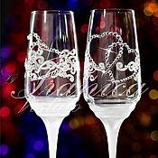 """Свадебный салон ручной работы. Ярмарка Мастеров - ручная работа Свадебные бокалы """"Abbraccio"""". Handmade."""